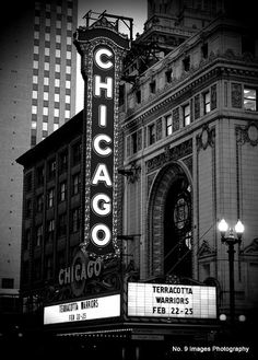The Famous Chicago Theater in Chicago Illinois