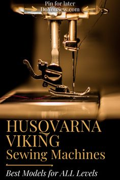 Husqvarna Viking sewing machines are highly rated among both professional and hobby sewers or sewists, or whichever title you prefer. It is one of the top sewing machine companies alongside Singer, Brother, Bernina, and few others. What is it that makes them so good? Start with tradition and experience. Then add to the mix new technologies and constant innovations. #doyousew #husqvarnaviking #sewingmachine #sewingmachines #sewingmachinereviews #sewing #ilovesewing #bestsewingmachines Sewing Blogs, Easy Sewing Projects, Sewing Projects For Beginners, Sewing Hacks, Sewing Tips, Viking Sewing Machine, Sewing Machine Reviews, Sewing Machines, Free Motion Embroidery