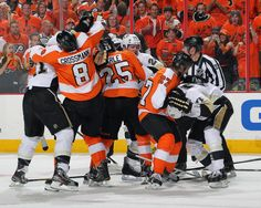 This picture sums up the whole playoff series between these two teams.
