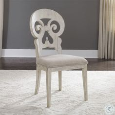 Farmhouse Reimagined Antique White Splat Back Side Chair Set of 2 - Farmhouse Dining Room Set, Farmhouse Furniture, Bar Furniture, Dining Chair Set, Dining Room Chairs, Side Chairs, Dining Table, Dining Sets, Round Dining