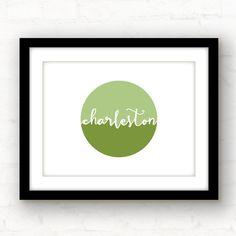charleston art // charleston wall art // by PaperFinchDesign