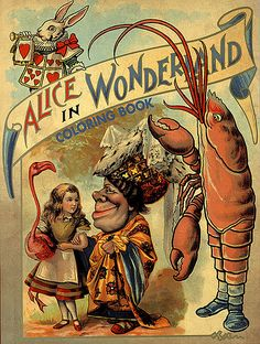 Vintage Alice in Wonderland Coloring Book