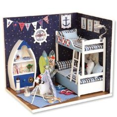 Casute de Papusi   Cutiute muzicale   Diorame - DinPovesti.ro Dollhouse Toys, Wooden Dollhouse, Miniature Dollhouse, Homemade Dollhouse, Miniature Rooms, Wooden Dolls House Furniture, Dollhouse Furniture, Furniture Redo, Furniture Projects