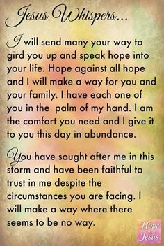 A prayer for Jesus whispers.....