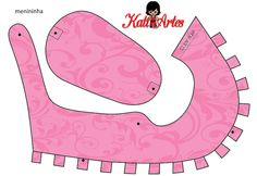A whole assortment of ready-colored (just cut out) free baby shoe templates!