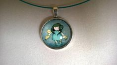 Little girl glass cabochon necklace glass cabochon teacher Sister Gifts, Best Friend Gifts, Gifts For Friends, Mother Day Gifts, Little Girl Pictures, Little Girls, Babysitter Gifts, Short Necklace, Baby Gifts