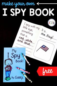 This Make Your Own I Spy Book is perfect for kindergarten and first grade students! Turn this activity into a writing center prompt or writers workshop lesson! #Ispy #writersworkshop #writingcenter #writingprompts Kindergarten Writing Activities, Fun Classroom Activities, Reading Activities, Work On Writing, Writing Skills, Writing Prompts, I Spy Books, Playdough To Plato, Make Your Own
