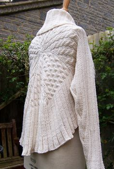 Handknitted Long Sleeved Bolero/Shrug/Cardigan Women by evefashion, $80.00