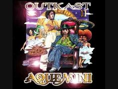 "OUTKAST - AQUEMINI {AN AQUEMINI'S AN AQUARIUS AND A GEMINI RUNNIN' SHIT}. ""Now question, is every n**** with dreads for the cause? Is every n**** with gold for the fall? Naw"" ///can rap every word... like an o.g."