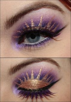 Tangled inspired make up! idea for Kierras party & the makeovers, whether I do them or let them do them is the ?