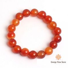 Carnelian Bracelet - Courage, Confidence & Creativity Carnelian Bracelet with 10mm beads. Creativity - Courage - Confidence Gorgeous genuine authentic orange carnelian 10mm bead bracelet. Carnelian is an excellent support for balancing the bodies energy levels. Attracts prosperity and good luck. Brings out ambition and ability to cope with stress. Known as the singers stone it can promote confidence on stage. Guards ... FREE Global Shipping.  #gemstonejewelry; #crystals #gemstones Gemstone Bracelets, Gemstone Jewelry, Coping With Stress, Carnelian, Crystals And Gemstones, Ambition, Crystal Healing, Bodies, Singers