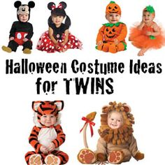 cute halloween costume ideas for twinsmultiples twin girls halloweenbaby