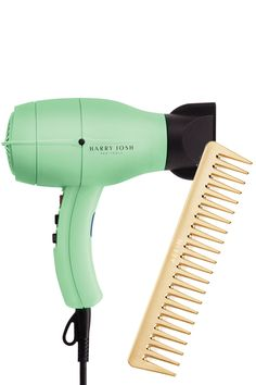 Speed up your morning routine—and save your strands from unnecessary breakage—with a high-powered dryer and a wide-tooth comb. Harry Josh Pro Tools Pro Dryer 2000, $250, hairenvy.com; Aerin Large Gold Comb, $40, aerin.com.   - HarpersBAZAAR.com