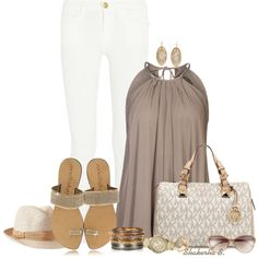 A fashion look from May 2014 featuring sheer tops, white skinny jeans and flats sandals. Browse and shop related looks. Summer Wear, Spring Summer Fashion, Summer Outfits, Casual Outfits, Cute Outfits, Summer 2014, Look Fashion, Fashion Outfits, Womens Fashion