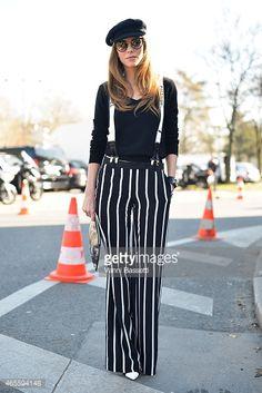 Alexandra Lapp wearing Chanel suspenders