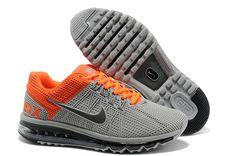 separation shoes 11777 8ee17 2013 Air Max Wolf Grey Metallic Dark Grey Total Orange Mens Running Shoes  Orange Shoes,