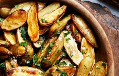Lemon & Parsley Skillet Roasted Fingerling Potatoes