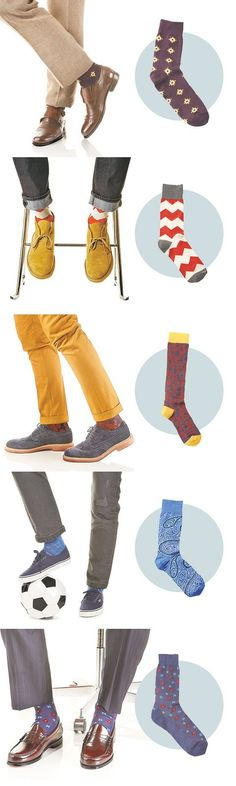 Men's sock options beyond stripes for this spring..