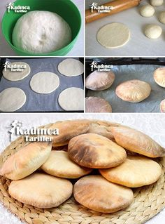 Pita Bread Recipe, How To - Ekmek Tarifleri backen recipes bread Muffin Recipes, Bread Recipes, Cake Recipes, Cooking Recipes, Middle Eastern Recipes, Arabic Food, Turkish Recipes, Pitaya, Food Cakes