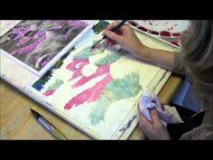 Watercolor Demo of a Garden Scene Part 3 by Lorraine Watry