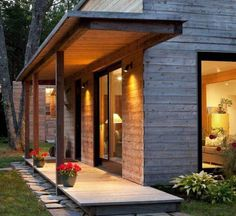 Patios Ideas: Modern Front Porch Designs Modern Furniture Stores for Pictures Of Modern Front Porches Porch Beams, Front Porch Railings, Front Porch Design, Porch Roof, Porch Designs, Porch Overhang, Front Yard Patio, Modern Front Porches, Porch Extension