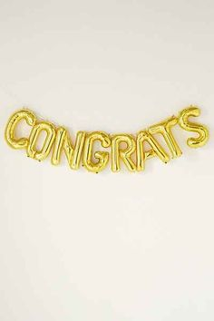 Congrats Party Balloon Kit Start The Party, For Your Party, Letter Balloons, Mylar Balloons, Rainy Day Fun, Champagne Party, Grad Parties, Time To Celebrate, Party Supplies