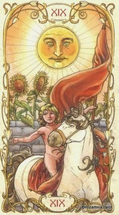 The Sun - Tarot Mucha by Lunaea Weatherstone