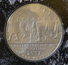 This is the obverse or what most folks know as the front of the Little Rock Commemorative Silver Dollar?