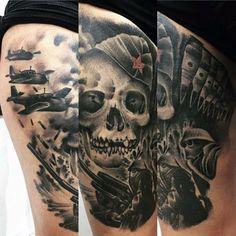 100 Military Tattoos For Men - Memorial War Solider Designs Army Tattoos, Military Tattoos, War Tattoo, Skeleton Tattoos, Forearm Sleeve Tattoos, Tattoo Designs, Tattoo Ideas, Skin Art, Tattoos For Guys