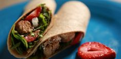 Grilled Chicken and Strawberry Salad Wrap By Ree Drummond
