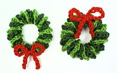 Ravelry: Mini Wreath Ornament pattern by June Gilbank