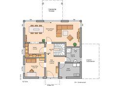 Kern-Haus Stadtvilla Centro Grundriss Erdgeschoss