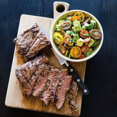Skirt Steak with Avocado and Tomatoes