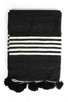 Wool Pom Pom Blanket
