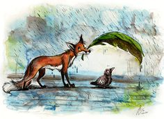 """I love the watercolor background, and the general """"awww!"""" factor of this :)"""