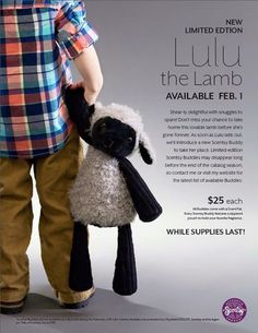 Lulu the Lamb Scentsy Buddy is ready to meet you! Please join us in welcoming our newest Scentsy Buddy, the sheerly delightful Lulu the Lamb! Perfect for Easter! https://apidala.scentsy.us/