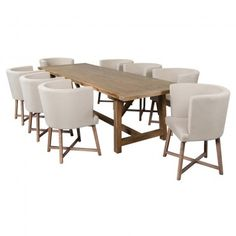 6eff2a2b76c8d R36995 Thomas Dining Table 2.8 + 8 Edison Dining Chairs Dining Room Sets