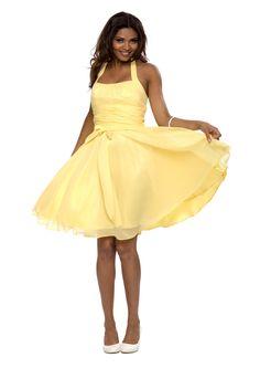 Astrapahl, robe de soirée, robe de cocktail, robe, couleur jaune: Amazon.fr: Vêtements et accessoires