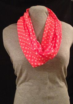 Pink Infinity scarf by KruseKreations22 on Etsy, $15.00