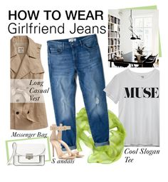 """""""How to Wear: Girlfriend Jeans"""" by asya-1 on Polyvore"""