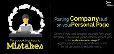 Posting company stuff on your personal page? Social Media Marketing, Movie Posters, Film Poster, Billboard, Film Posters