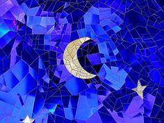 mosaic moon.  and stars.