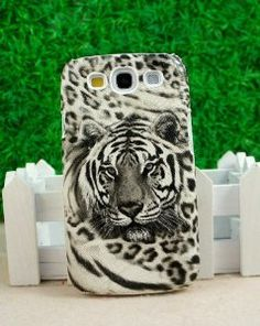 Amazon.com: CoversFromUs White Black Tiger Print Hard Case for Samsung Galaxy S3 SIII: Cell Phones & Accessories