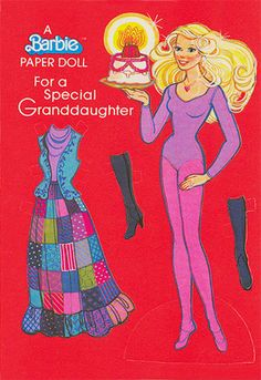 Vintage Barbie Birthday card, 1979