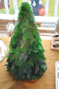 Beach glass Christmas trees | MY ARTWORK | Pinterest | Glass ...