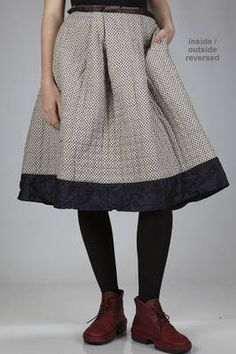 wide calf-length skirt in wool gauze, cashmere and cotton and silk liberty - DANIELA GREGIS