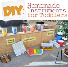 Learn how to make cool instruments and boost your child's creative skills with household items.