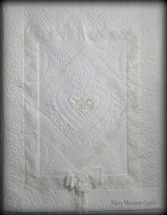 Mary Manson Quilts: Erika's Ornate Wedding Dress