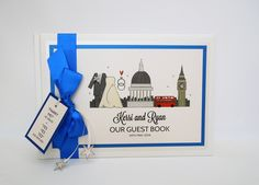 London Themed Printed guest book