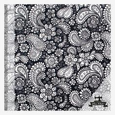 Ruusuhuivi (mustavalkoinen puuvillasatiini) | Verson Puoti